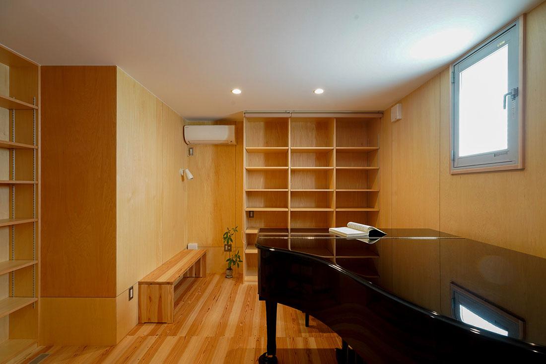 北寺島の家 ピアノ室