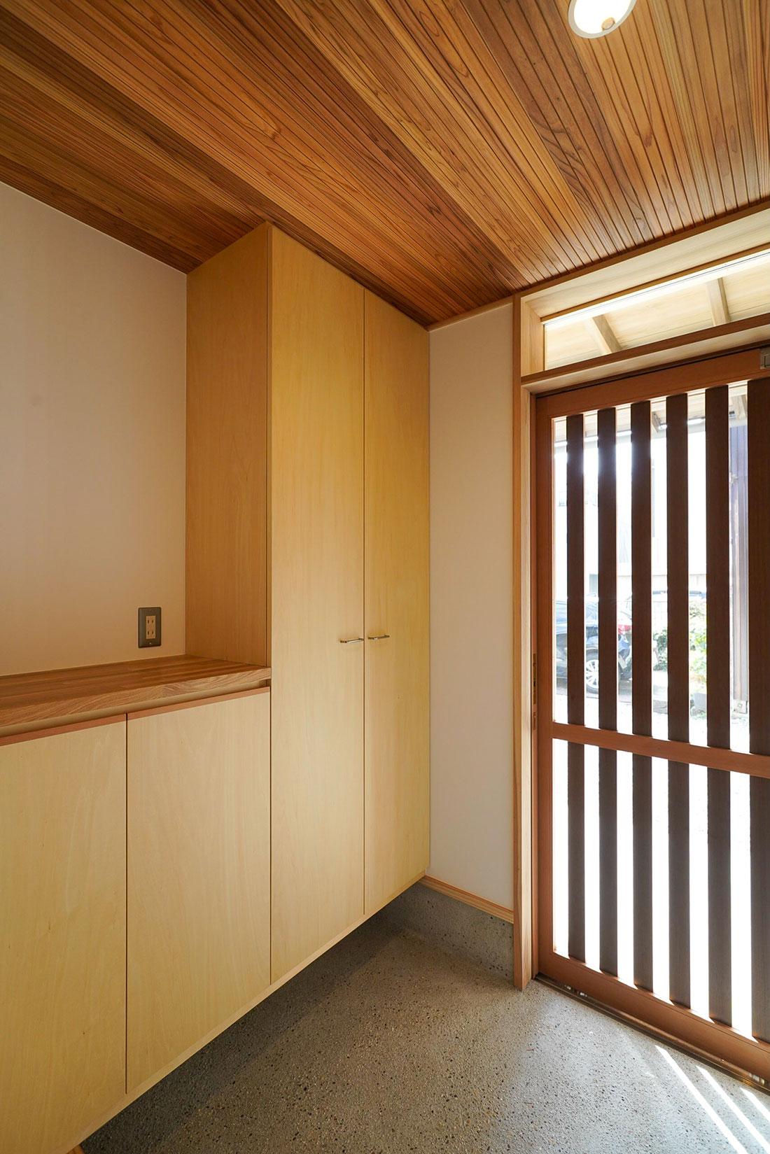 北寺島の家 玄関
